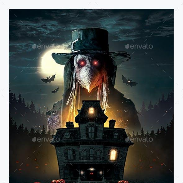 Haunted House Halloween Flyer