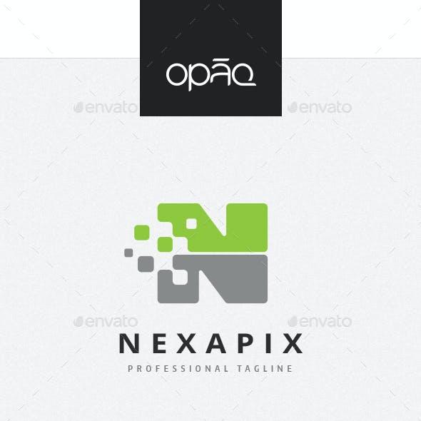 Pixel Data N Letter Logo