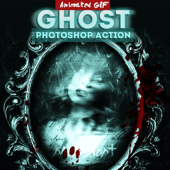 Halloween Ghost Animated Photoshop Action
