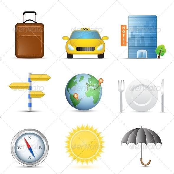 Travel Icons Symbol Collection - Travel Conceptual