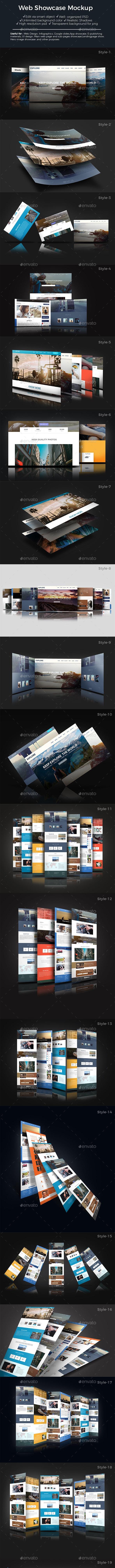 Web Showcase Mockup - Product Mock-Ups Graphics