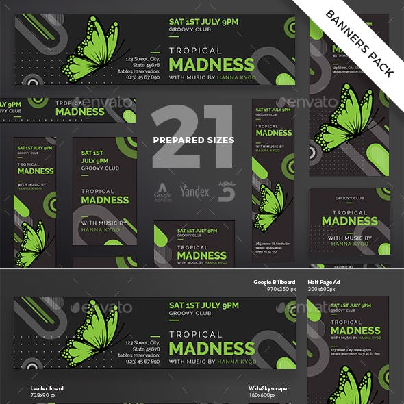 Tropical Madness Banner Pack
