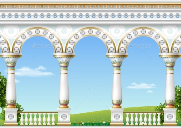Classical Arch of the Eastern Palace - Buildings Objects