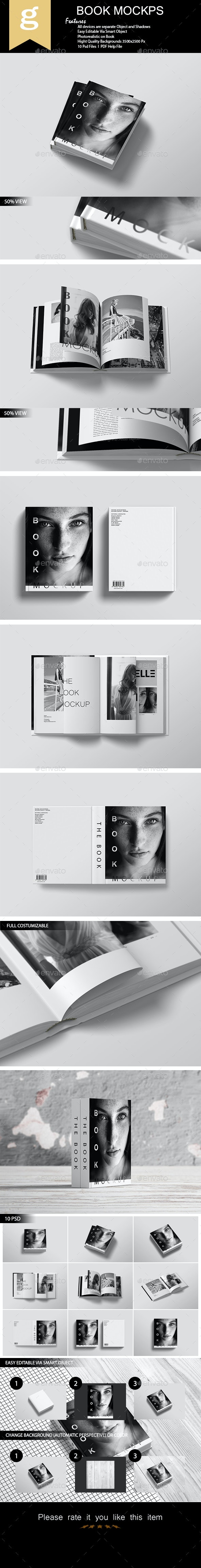 Book Mock-Up - Books Print