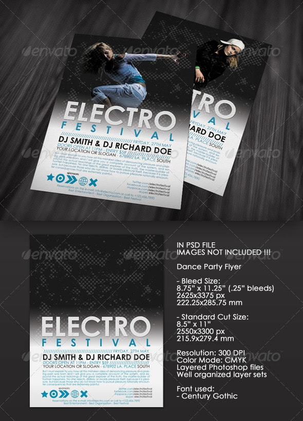 Electro Festival Flyer - Clubs & Parties Events