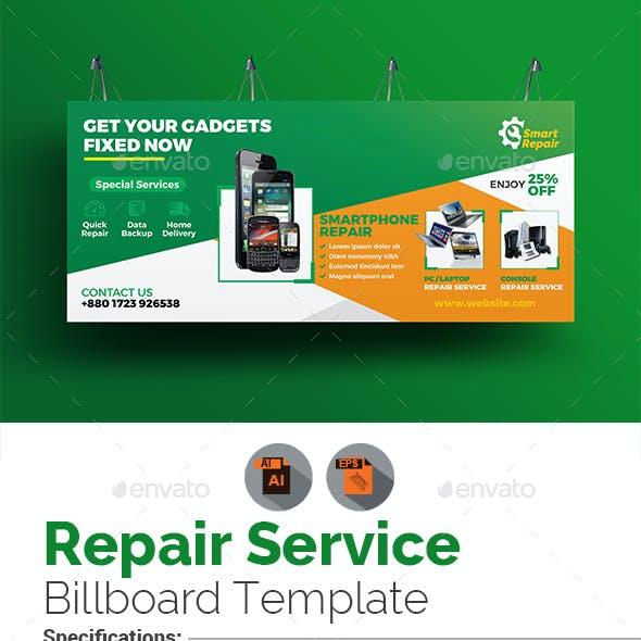 Repair Service Billboard Template