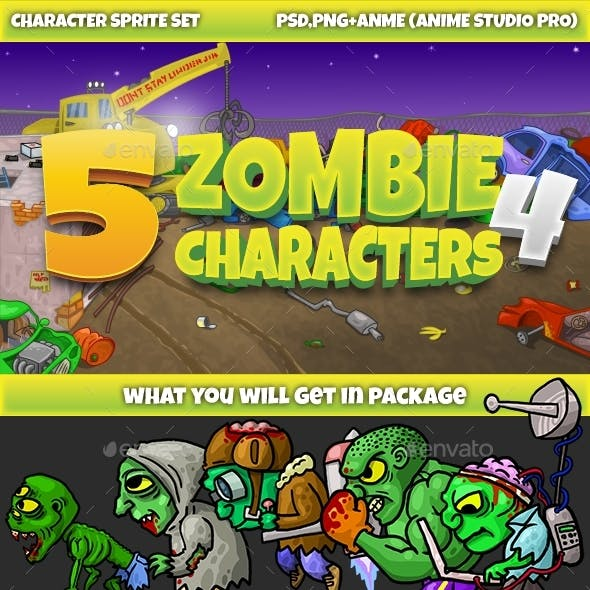 5 Zombies Pack №4