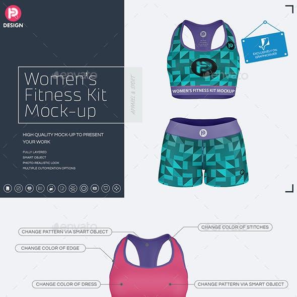 Women's Fitness Kit Mock-Up v1