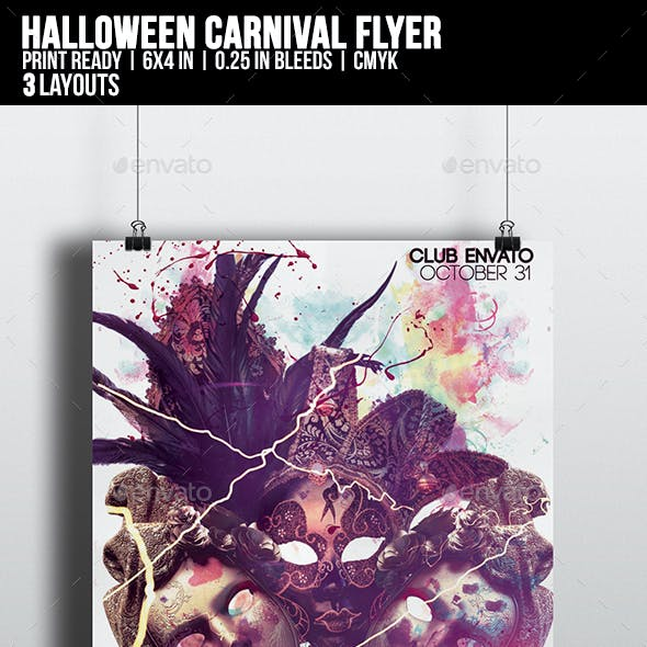 Halloween Carnival Flyer Template