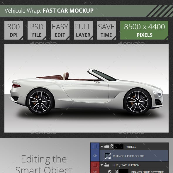 Easy Mockup For Bentley Fast Car