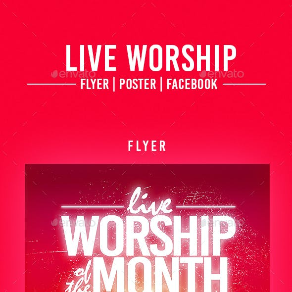 Live Worship Flyer Template