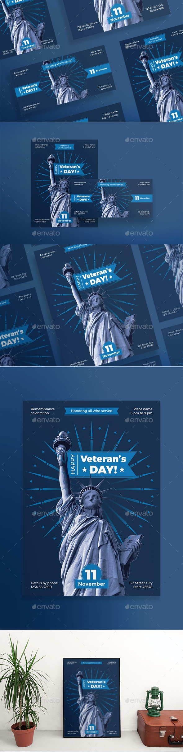 Veteran's Day Flyers - Holidays Events