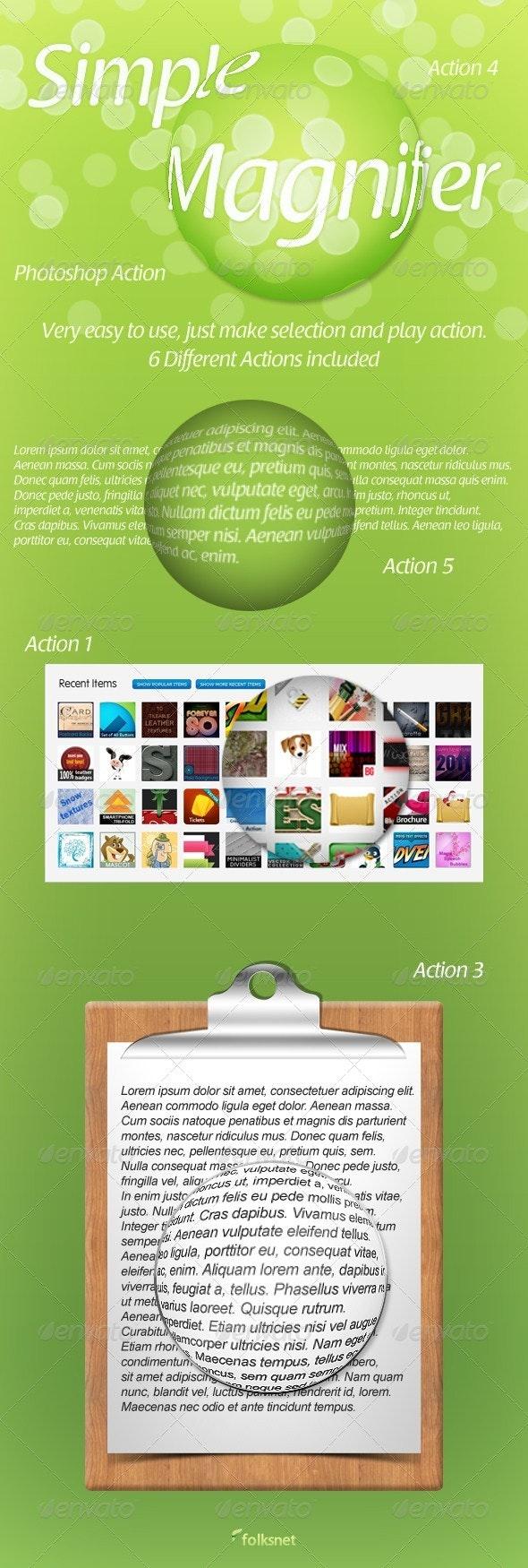 Simple Magnifier - Utilities Actions