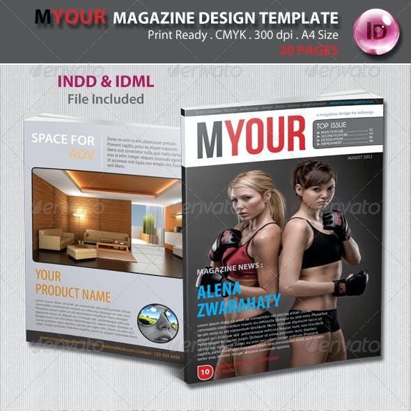Myour Magazine Design Template