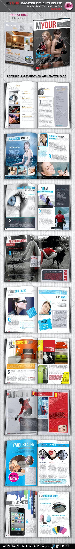 Myour Magazine Design Template - Magazines Print Templates