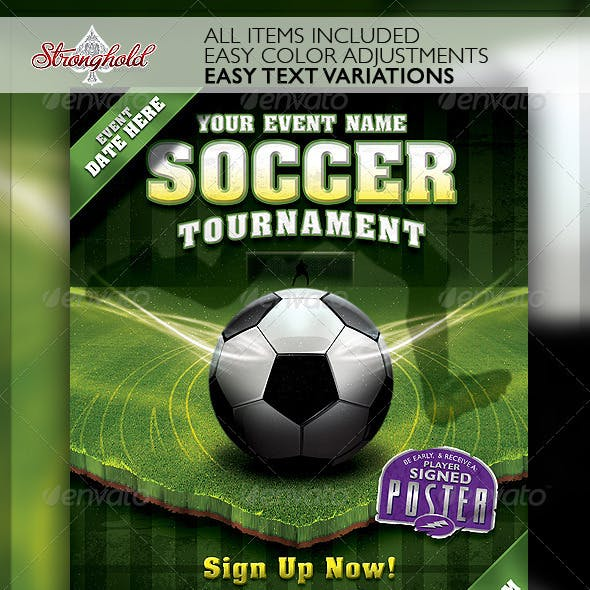 Soccer Tournament Flyer Event Template