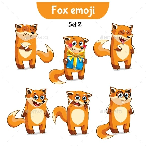 Set of Fox Characters Set 2