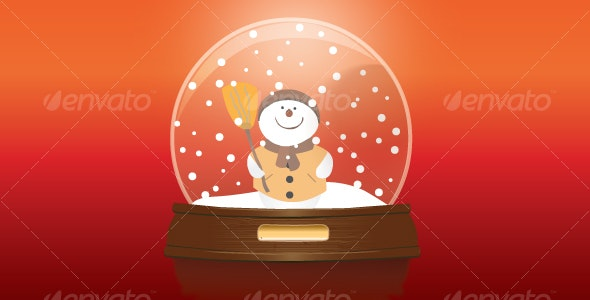 Snow globe with snowman - Christmas Seasons/Holidays
