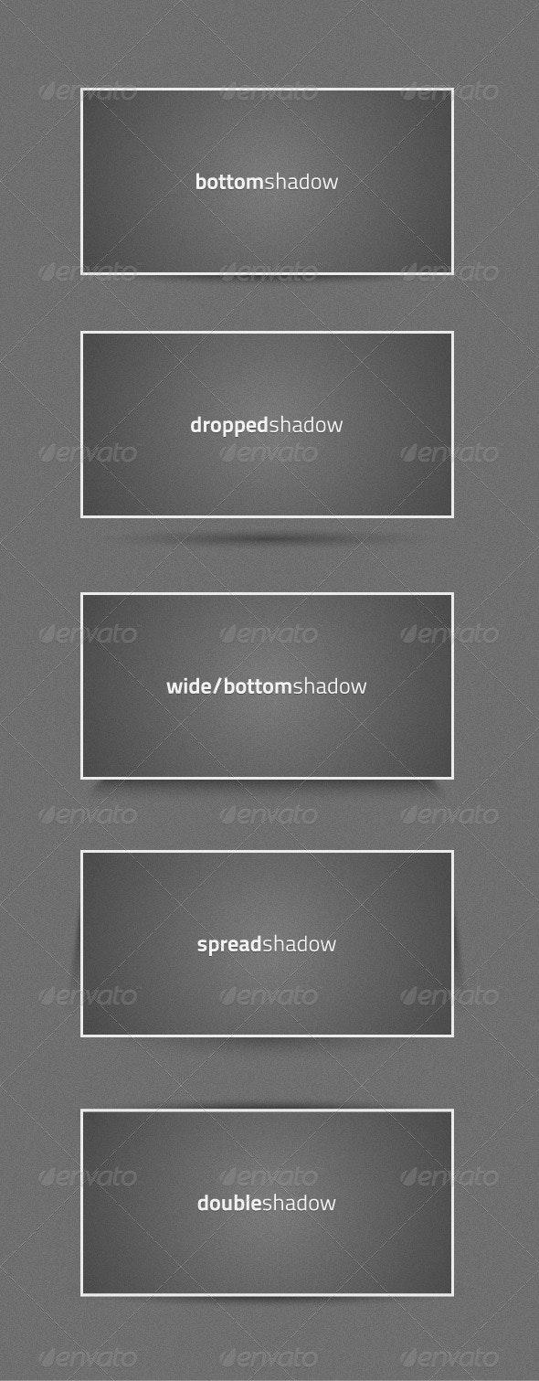 5 Vector Shadow Graphic Styles - Decorative Vectors