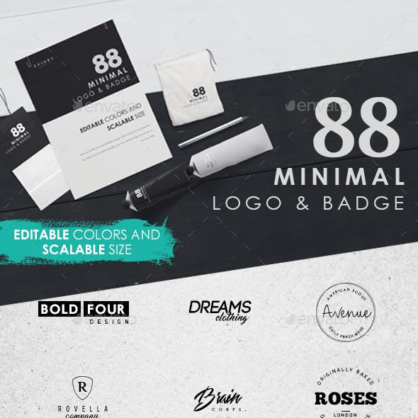 88 Minimal Logo and Badge
