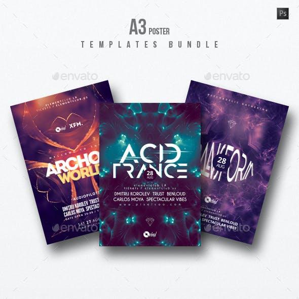 Progressive Sound vol.8 - Party Flyer / Poster Templates Bundle