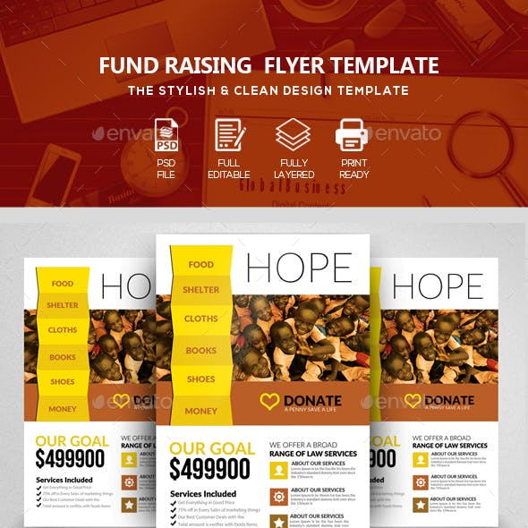 Fundraising Charity Psd Flyer