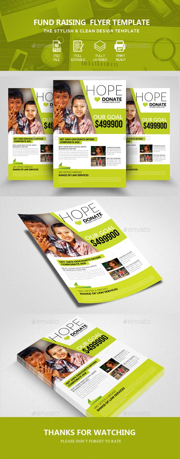 Donation & Charity Flyers - Corporate Flyers