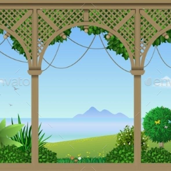 Veranda of a Tropical Hotel