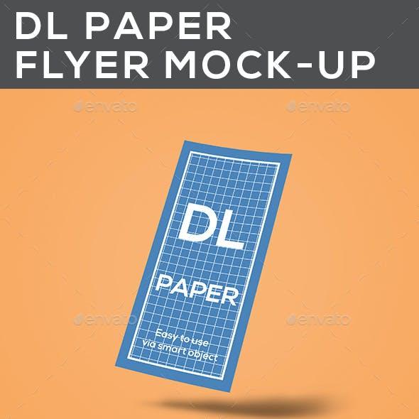 DL Paper Flyer Mock-Up