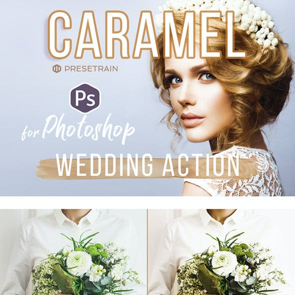 Caramel Wedding Photoshop Action