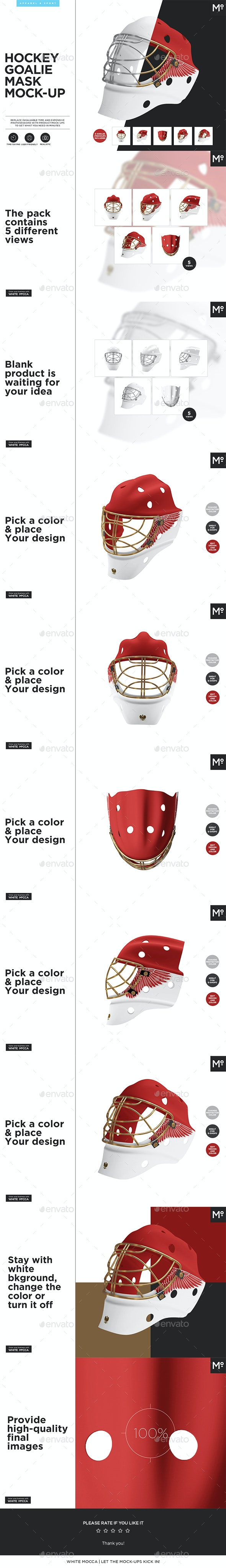 Hockey Goalie Mask Mock-up - Miscellaneous Apparel
