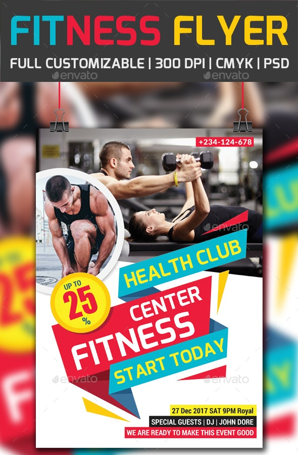 Fitness Flyer PSD - Corporate Flyers