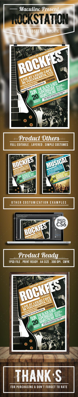 Rockstation Flyer/Poster Vol.6 - Concerts Events
