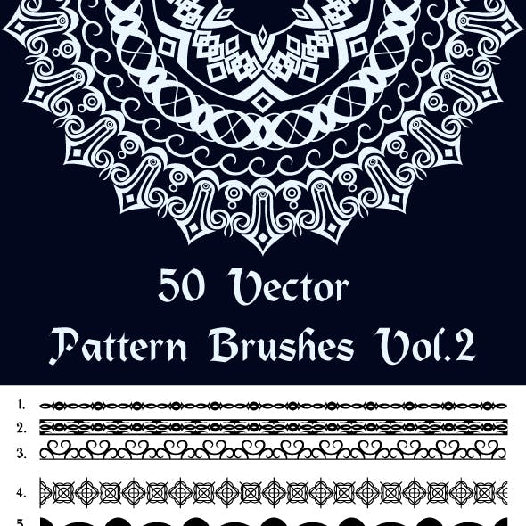 50 Vector Pattern Brushes Vol.2