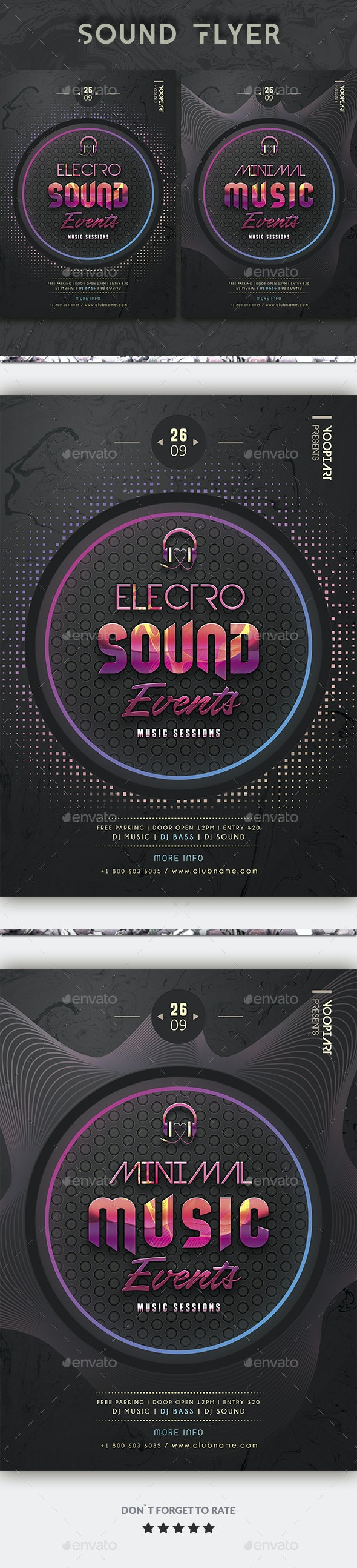 Sound Events Flyer - Events Flyers