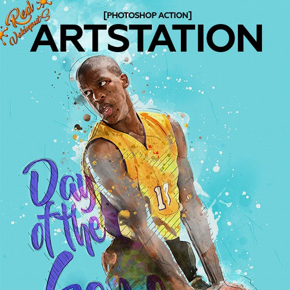 Art Station Photoshop Action