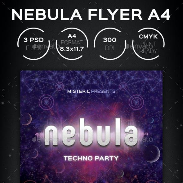 Nebula Techno Flyer A4