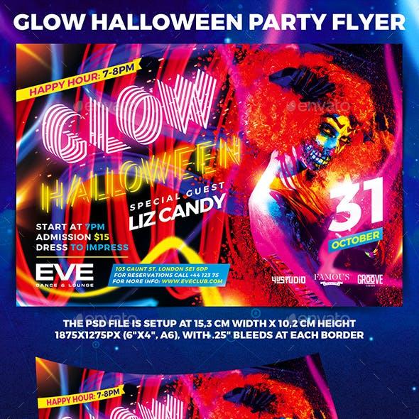 Glow Halloween Party Flyer