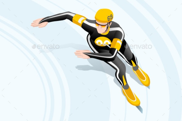 Male Short Track Winter Sports - Sports/Activity Conceptual
