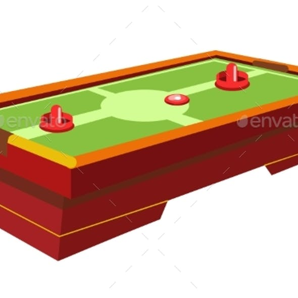 Table Hockey with Round Paddle and Thin Washer