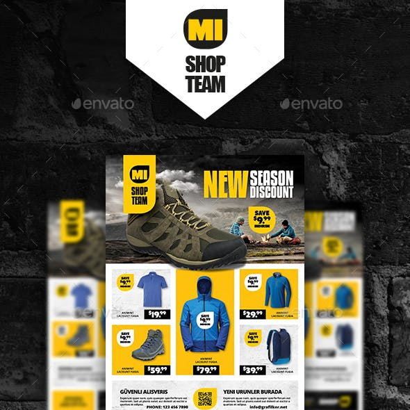 Shopping Product Poster Templates