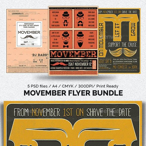 Movember Flyer Bundle