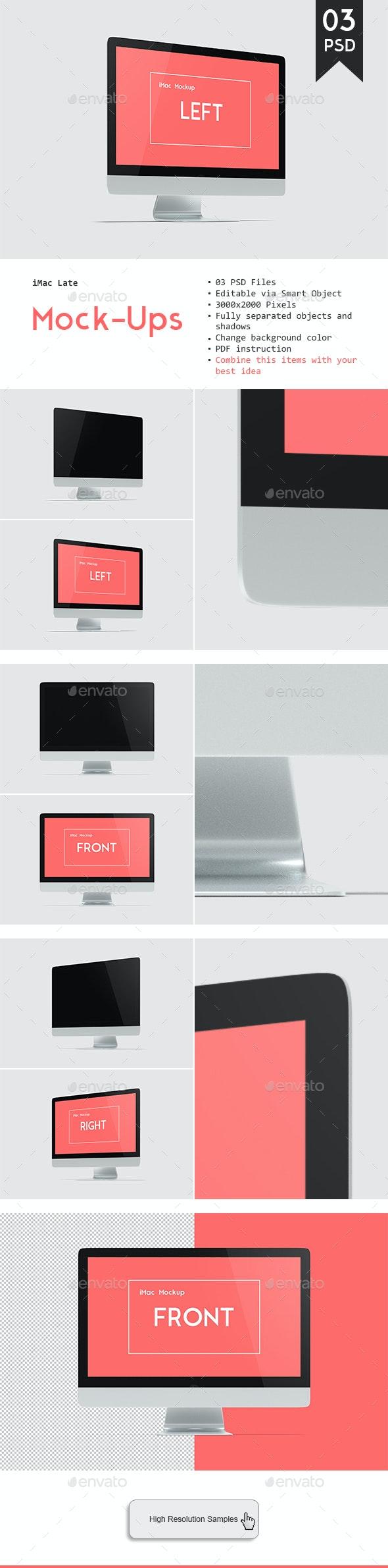 Desktop Mockup - Monitors Displays