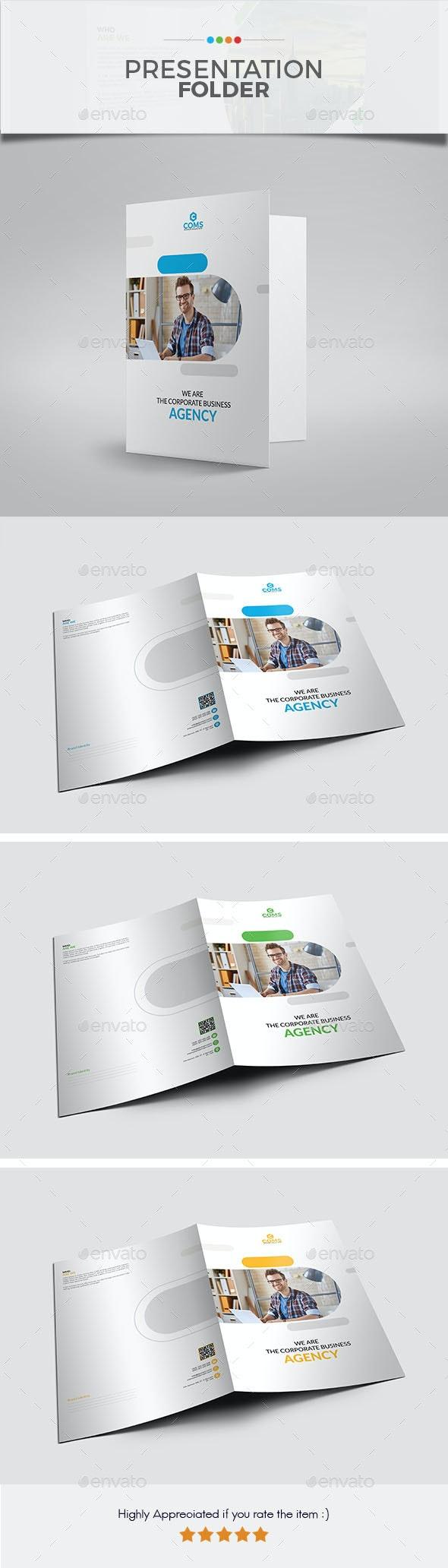 Presentation Folder 05 - Stationery Print Templates
