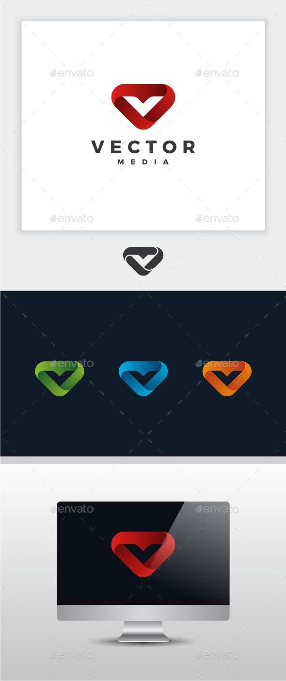 Vector Media - Letter V Logo - Letters Logo Templates