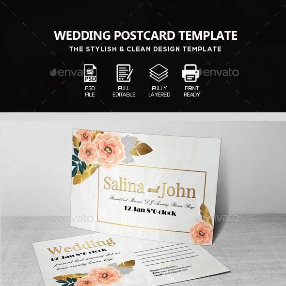 Wedding Postcard Print Templates
