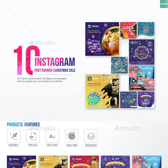 10 Instagram Post Banner-Christmas Sale