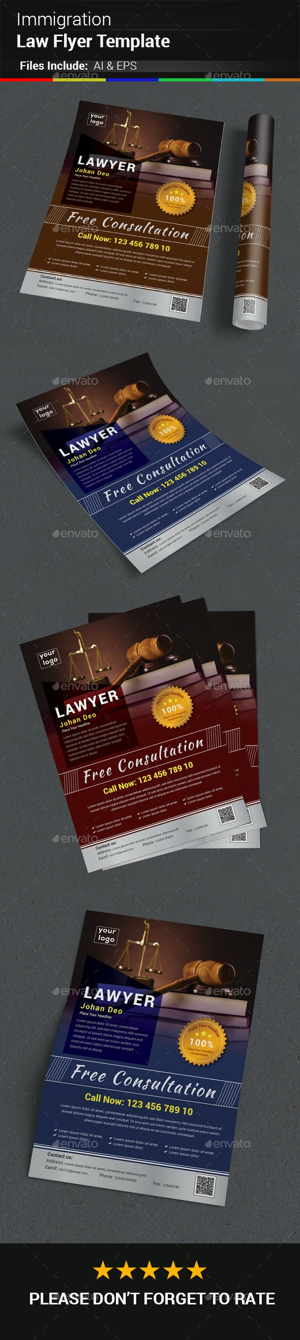 Immigration Law Flyer Template - Corporate Flyers