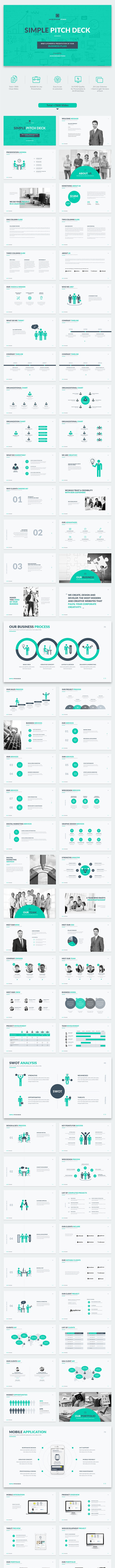 Simple Pitch Deck PowerPoint Template - Pitch Deck PowerPoint Templates