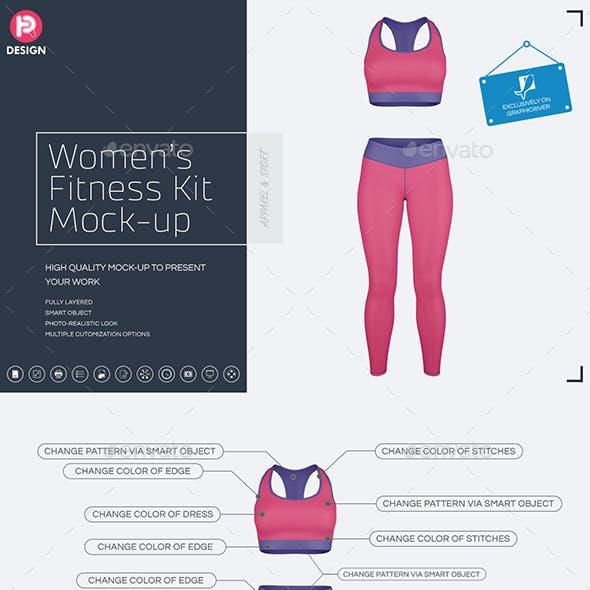Women's Fitness Kit Mock-Up v2